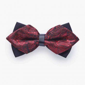 PINOTI RED SHINY DESIGN PRE TIED BOW-30SHADES