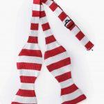 PINOTI RED WHITE STRIPES TIY BOW TIE-30SHADES