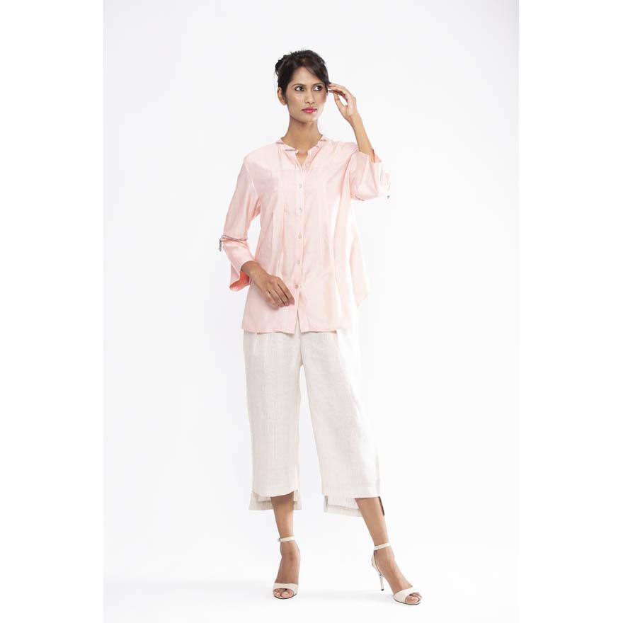 Drape tussar silk shirt - Paridhi Jaipuria